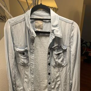 Guess button down shirt women